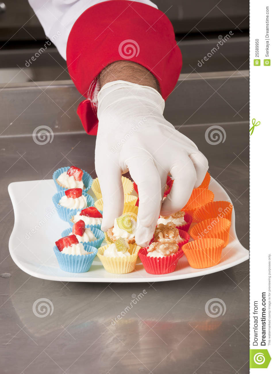 Decorating canapes stock photo image 25589950 for Decoration canape