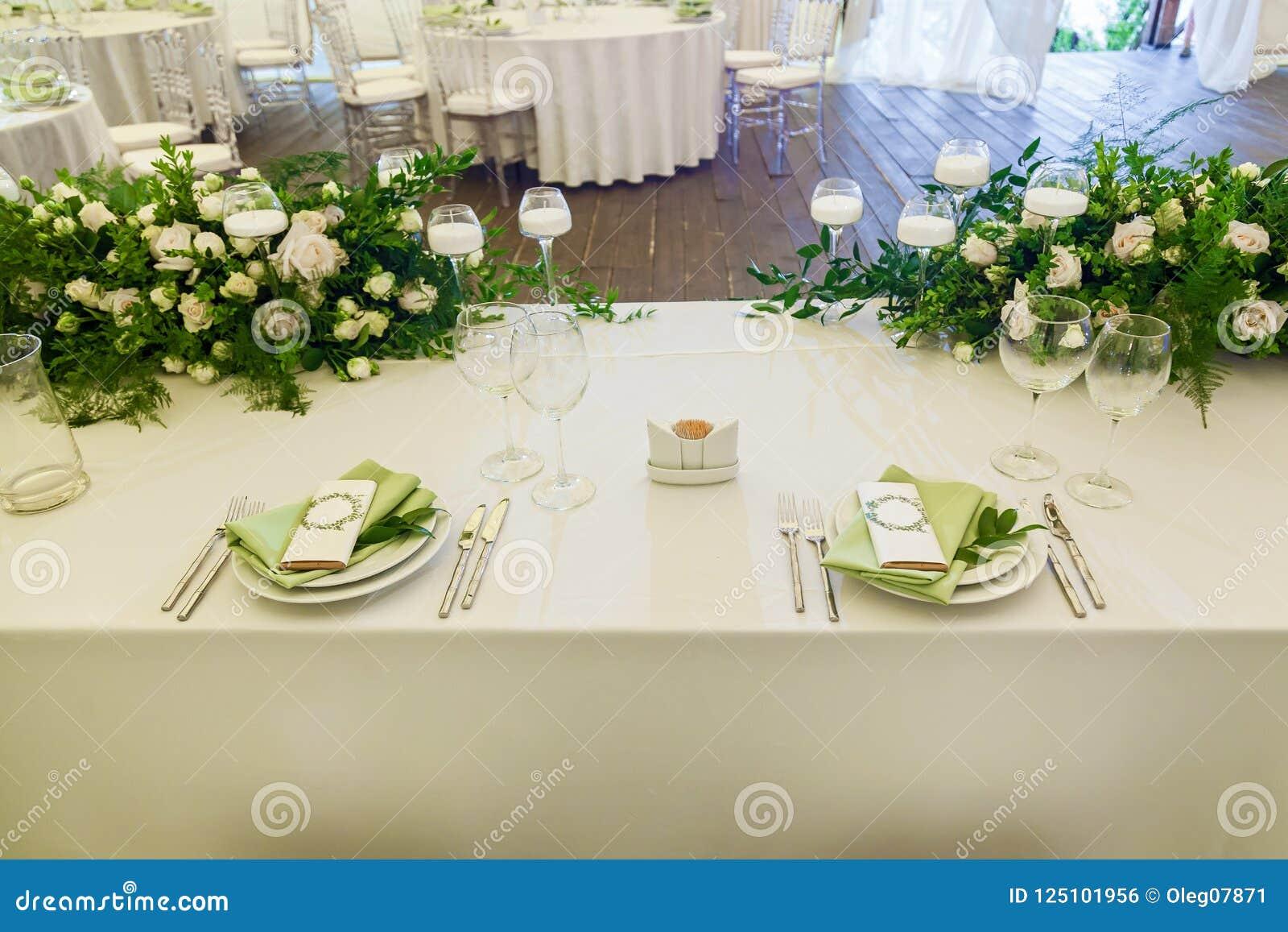 Decorating Flowers With A Wedding Celebration Stock Photo Image Of