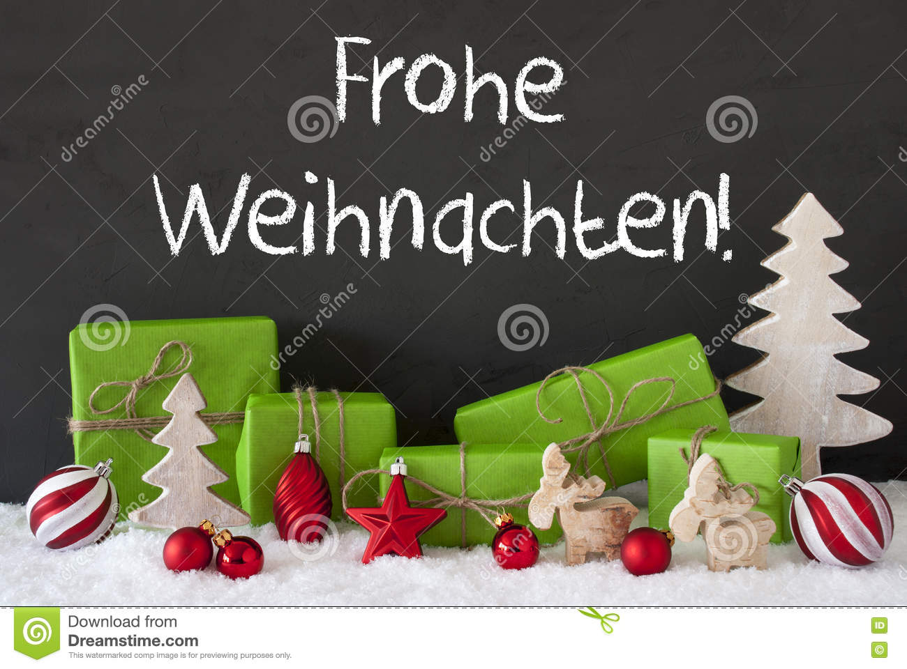 frohe weihnachten means merry christmas moose royalty free. Black Bedroom Furniture Sets. Home Design Ideas
