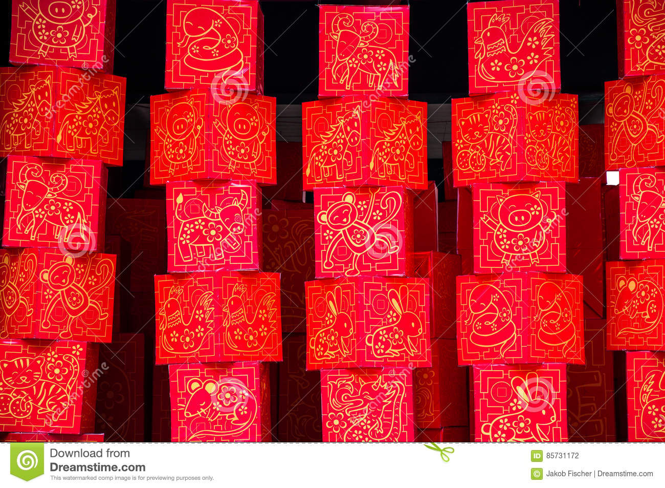 Decoration For Chinese New Year, Singapore Stock Photo ...