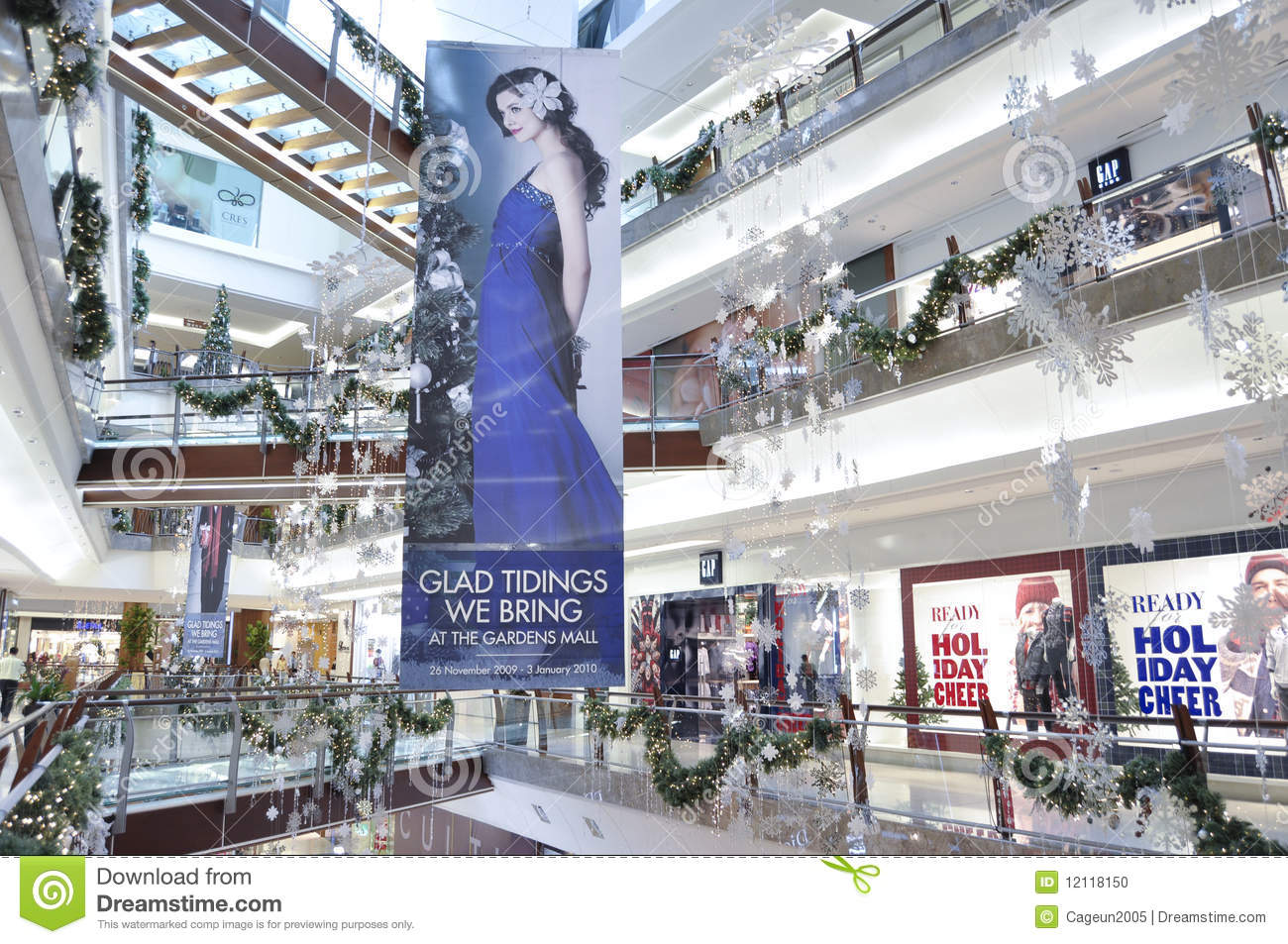 Decoration Of Christmas In The Garden Mall Editorial Image Image