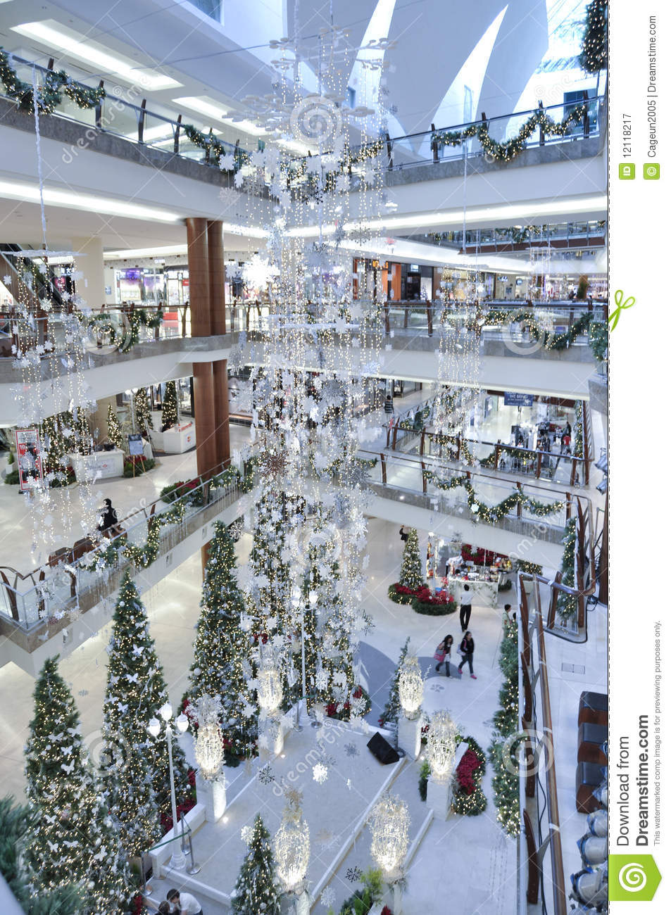 Decoration Of Christmas In The Garden Mall Editorial
