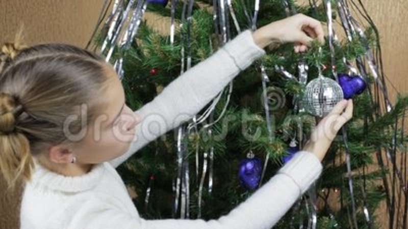 Teenage Toys For Christmas : Decoration of a christmas tree stock video video of claus hand