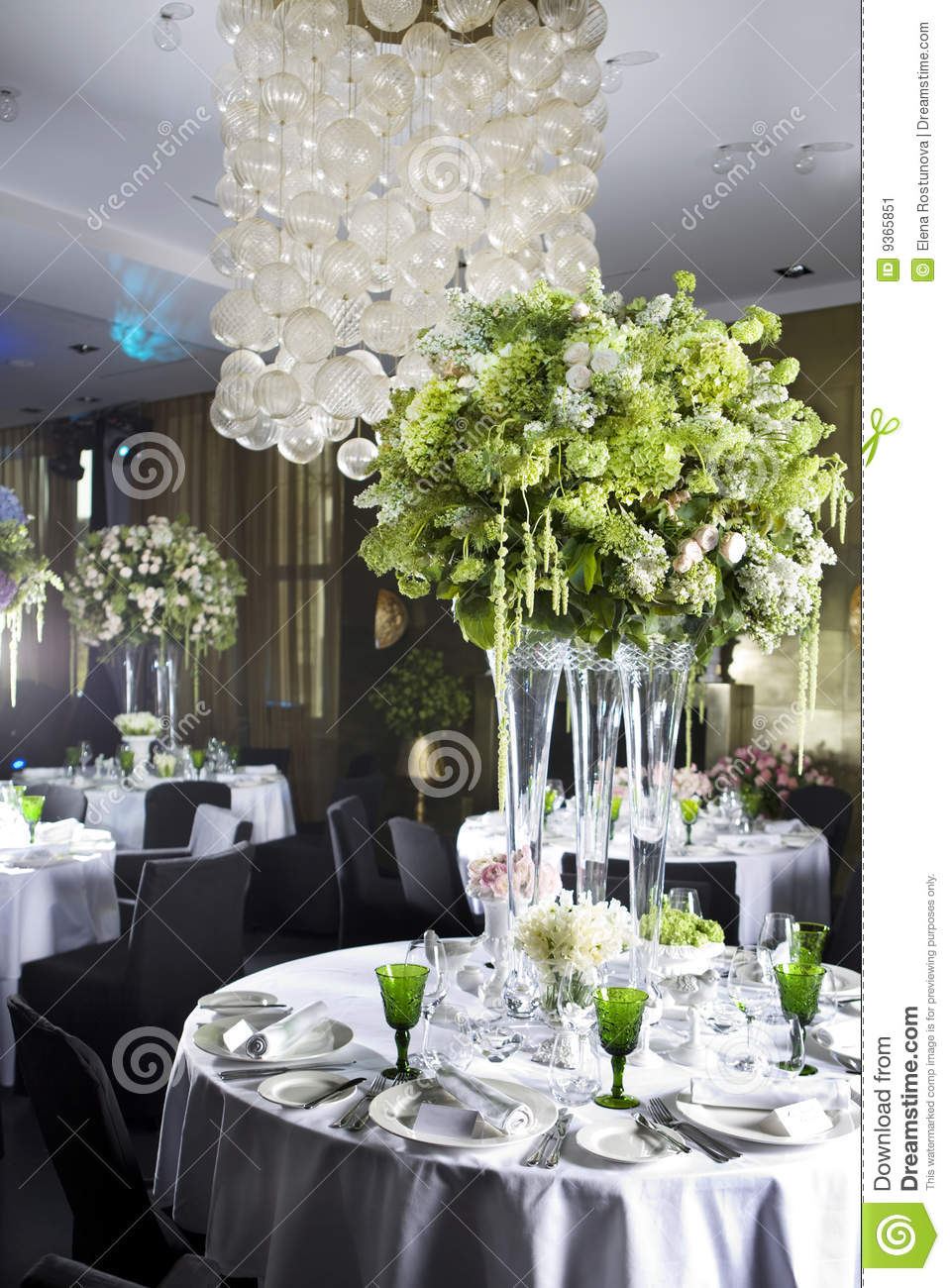 Decoration Dining Table In Restaurant Stock Image Image