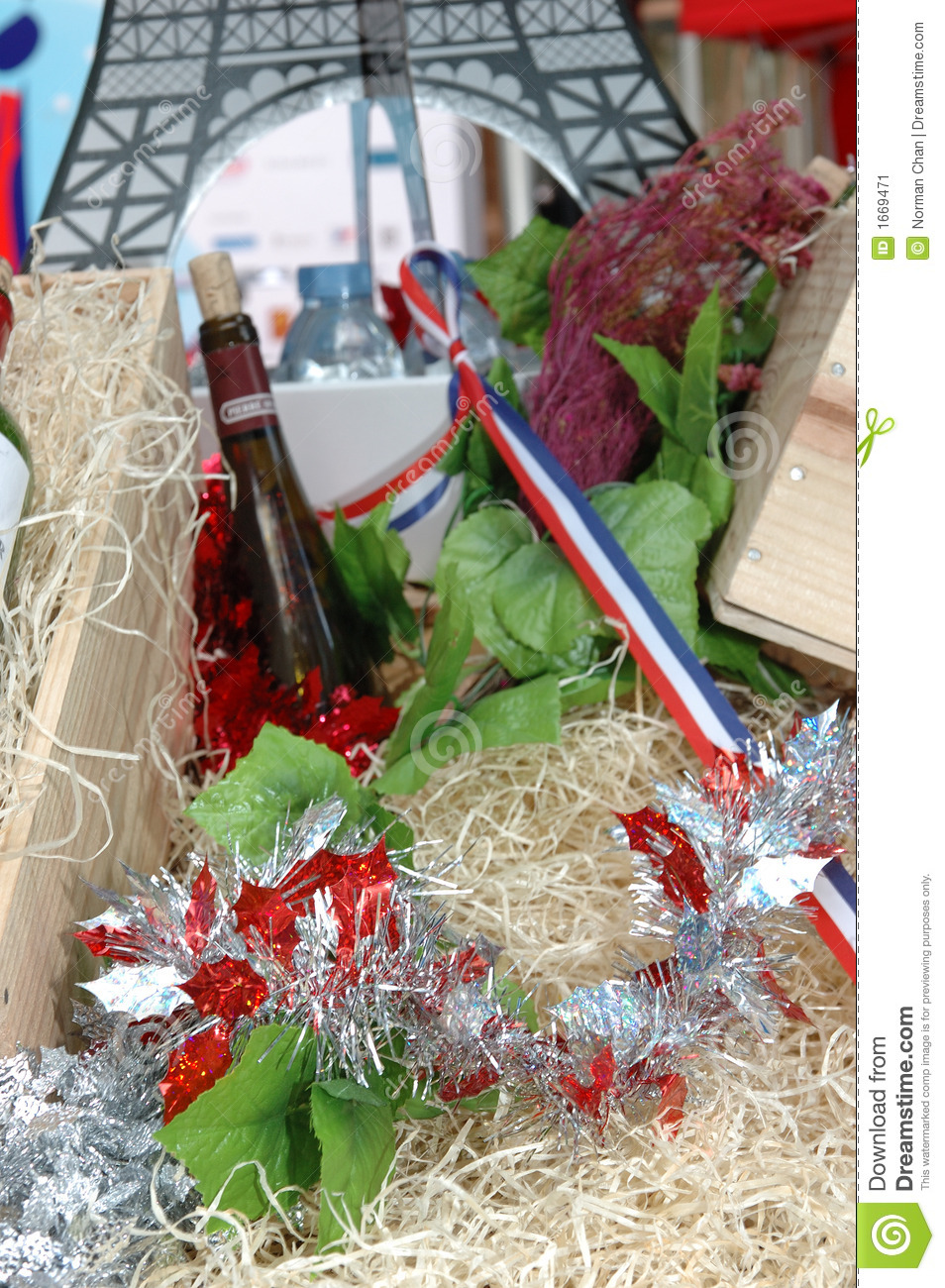 French Wine Stock Christmas Decorations Monaco Pictures From