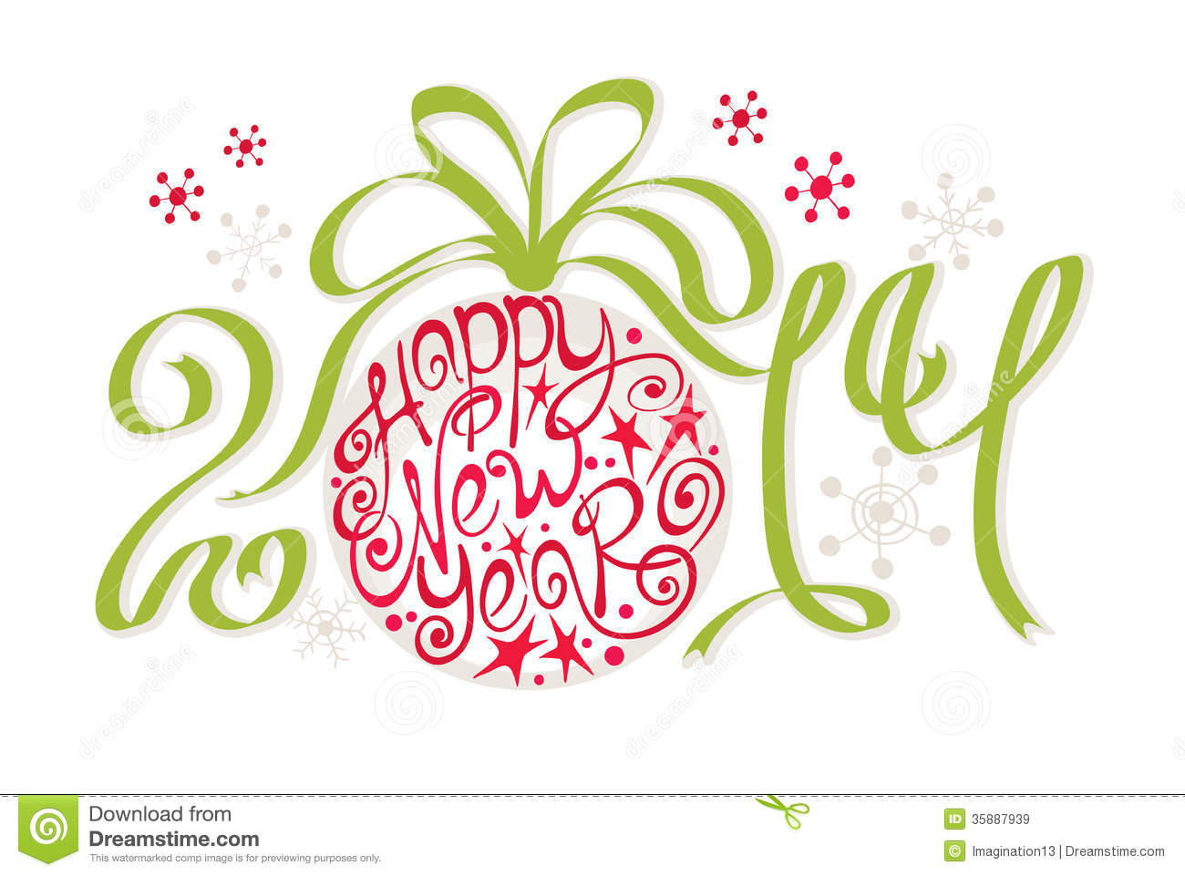 Decoration happy new year 2014 stock vector image for Decoration new year