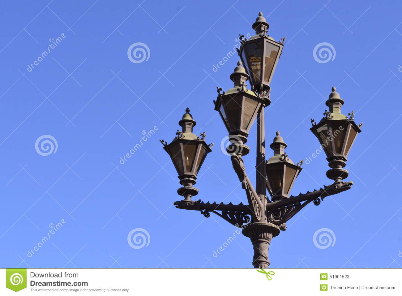 Decoration Item Hermitage Vintage Lamp Stock Photo Image