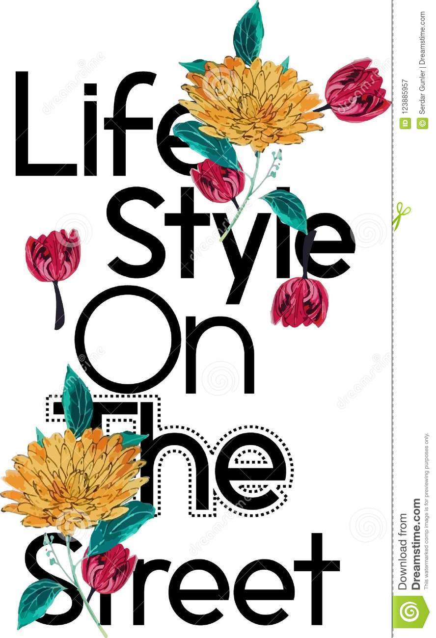 Print For The On T Design Street Stock Decoration Life Style Shirt wpfSqTOx
