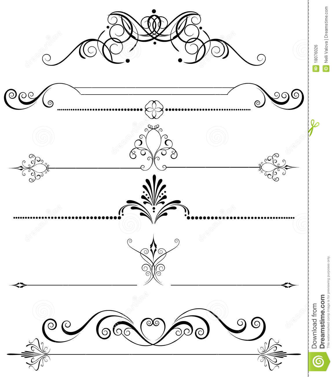 Decoration for the page stock vector illustration of for Decoration page