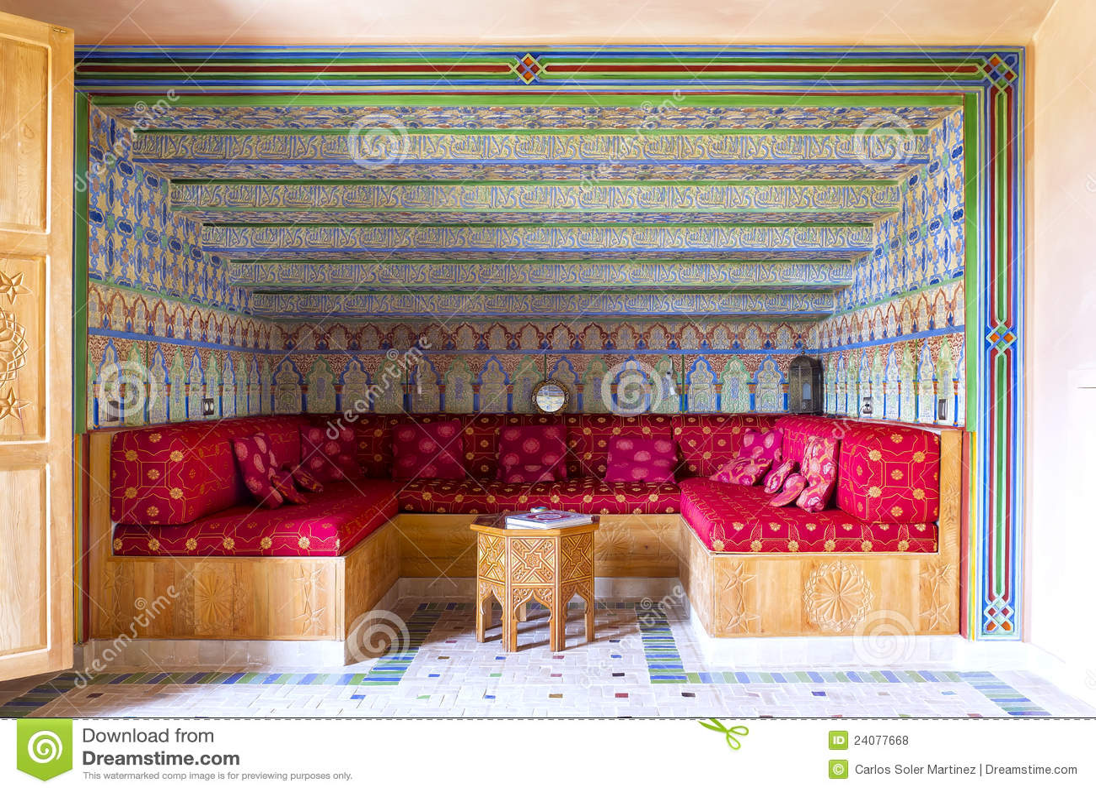 Decoration Of Salon Arabic Style Royalty Free Stock Photos Image 24077668