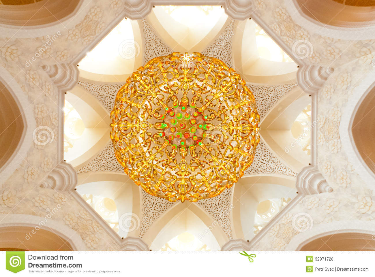 Decoration of the sheikh zayed grand mosque stock photo for Al manzool decoration abu dhabi