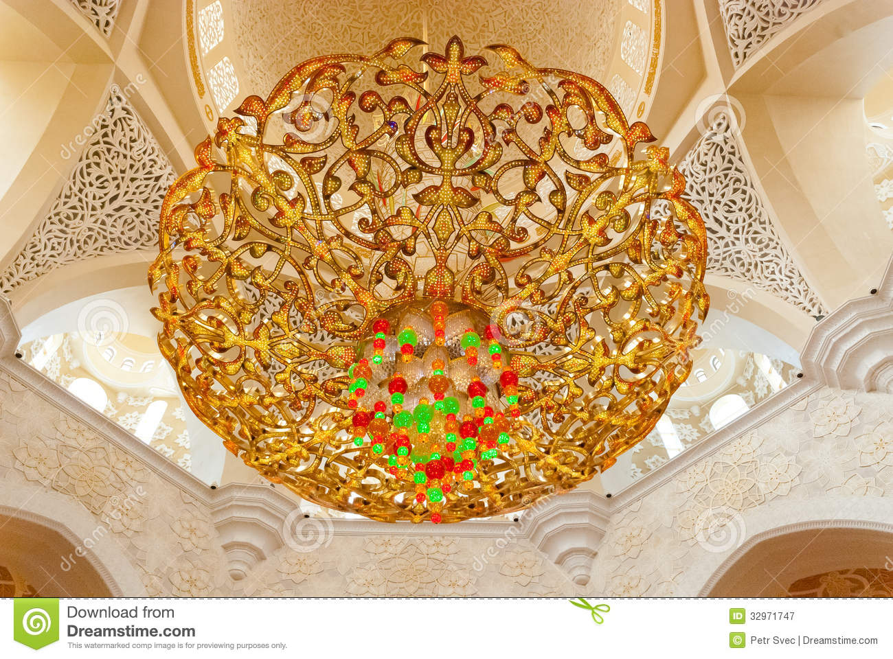 Decoration Of The Sheikh Zayed Grand Mosque Stock Image