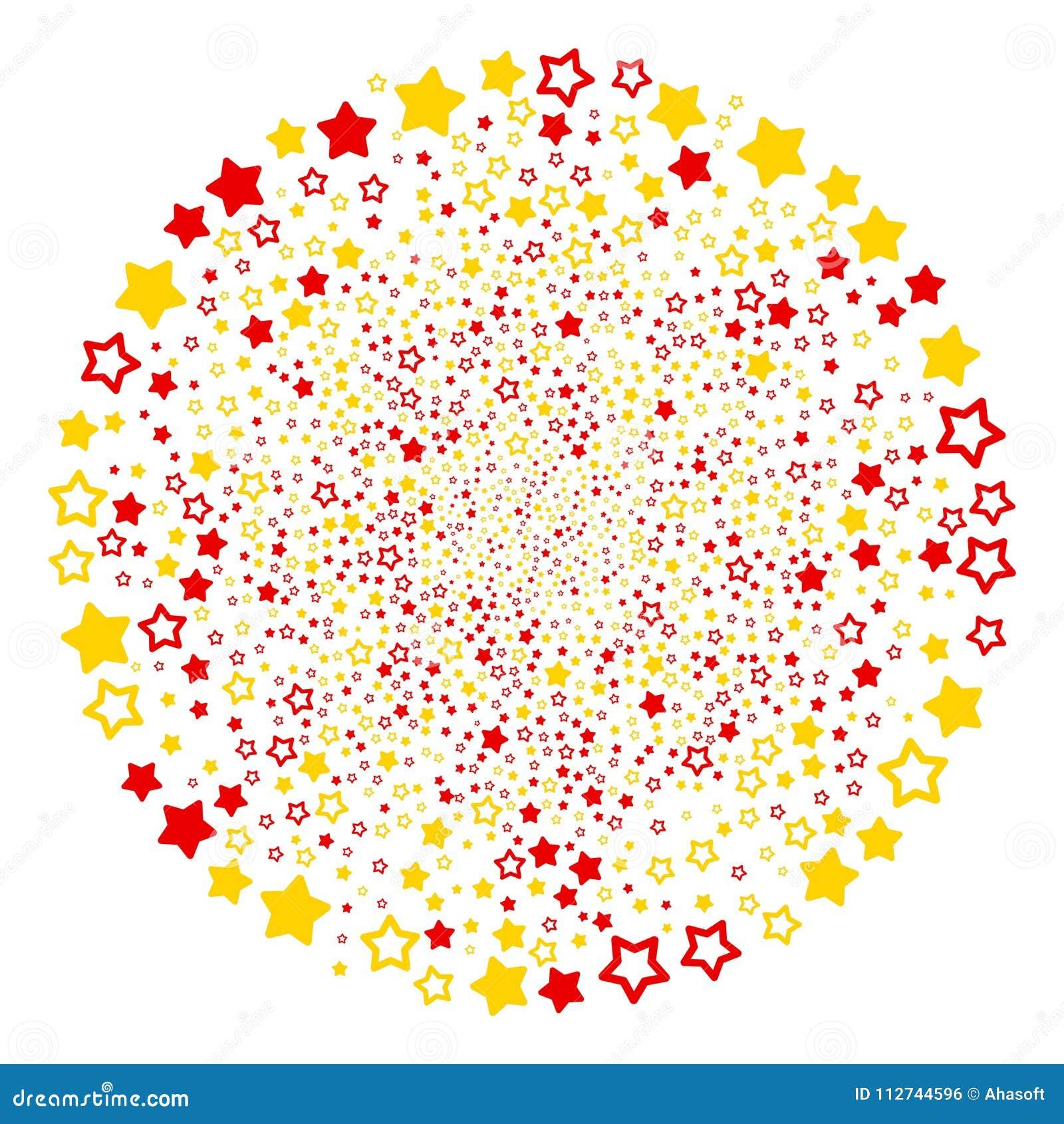 Decoration Stars Spiral Motion Stock Vector Illustration Of