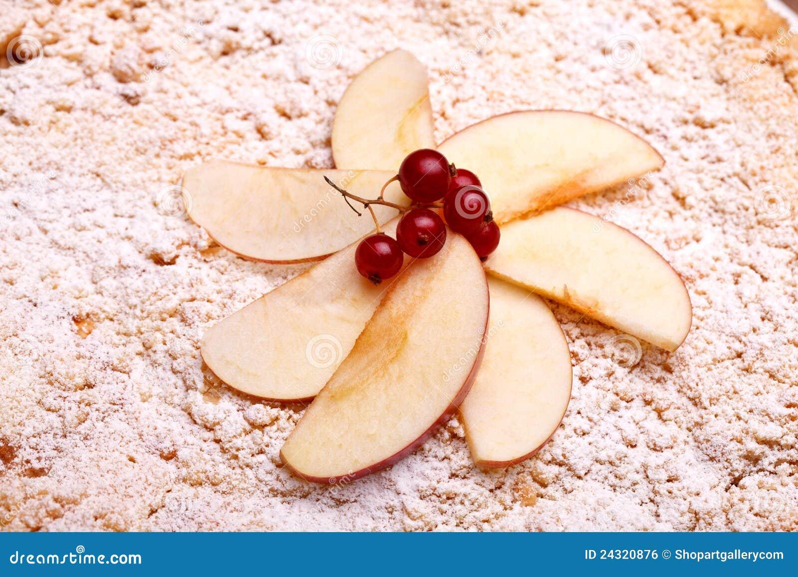 Decoration On Top Of Apple Cake Stock Photo - Image of international on