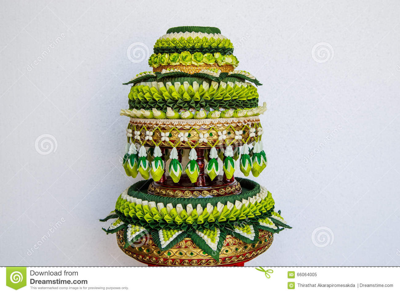 Decoration Tray Of Thai Traditional Wedding Gifts Stock Image