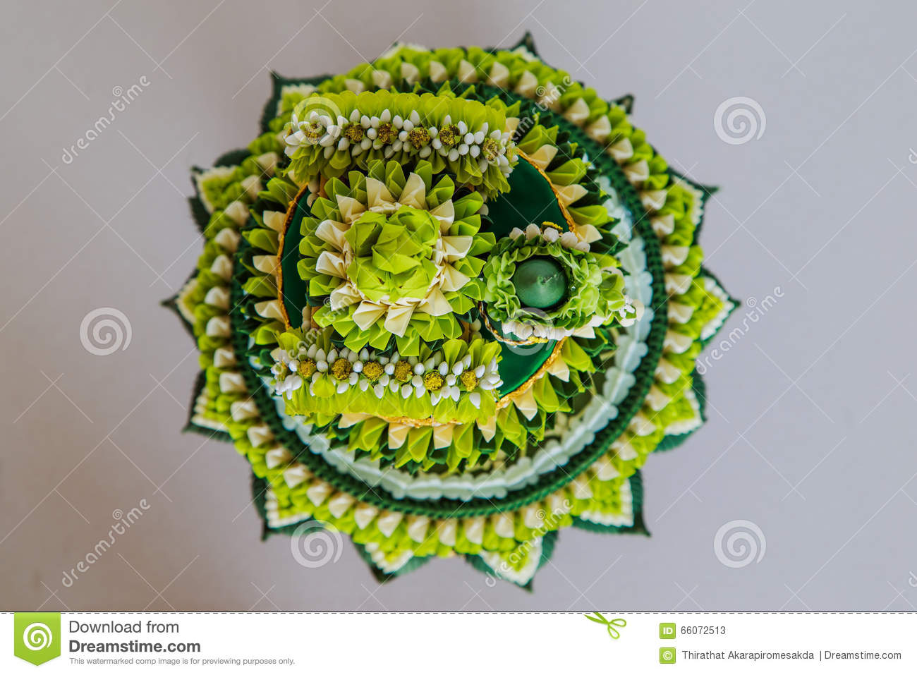 Traditional Wedding Gifts.Decoration Tray Of Thai Traditional Wedding Gifts Stock Image