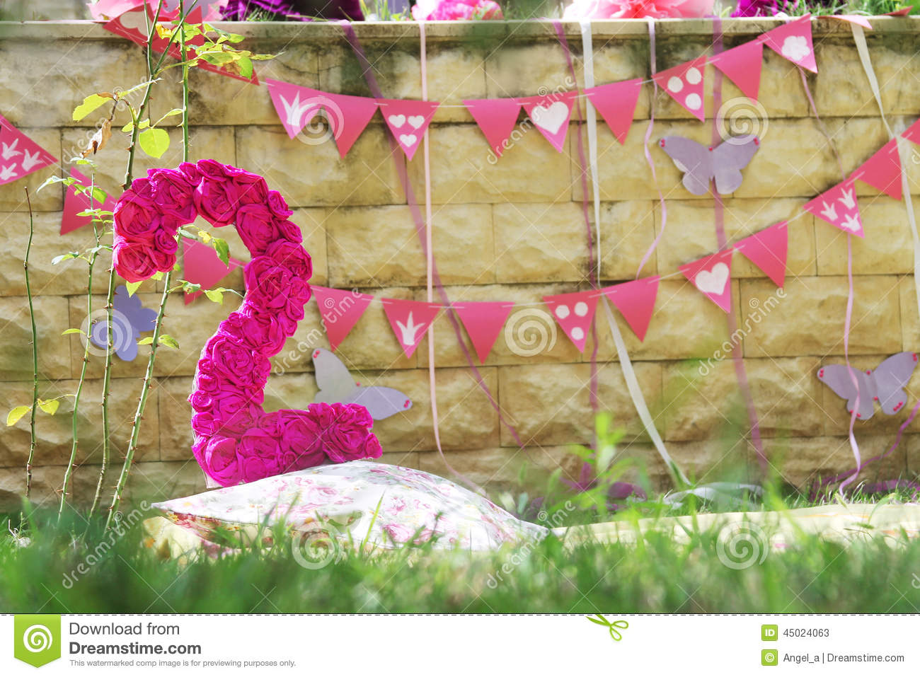 Decoration for two years anniversary party