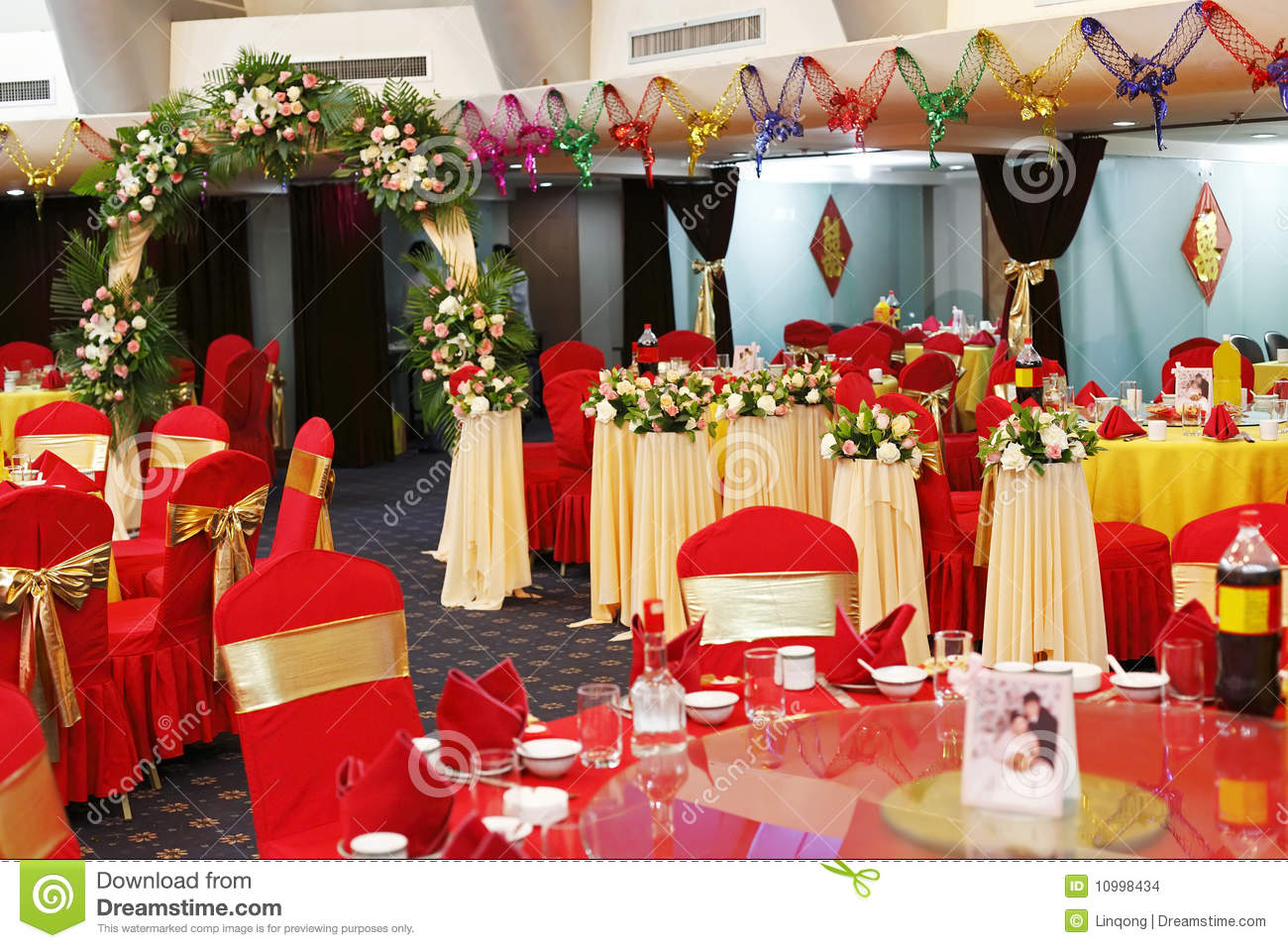 Decoration in wedding banquet stock photo image 10998434 for Asian wedding decoration