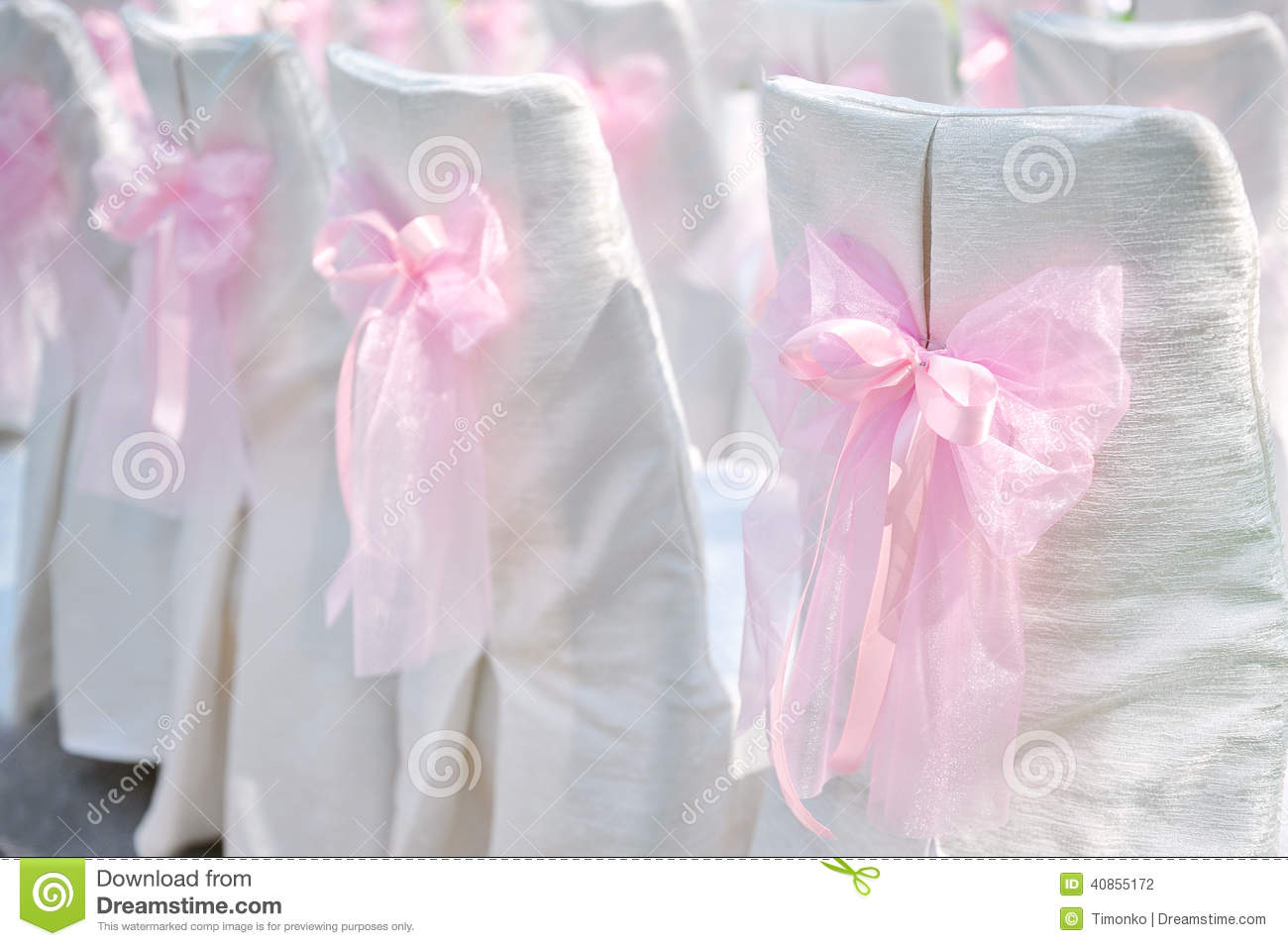 Couple room decoration - Decoration On Wedding Chairs Pink Bow Decoration On Wedding Chairs