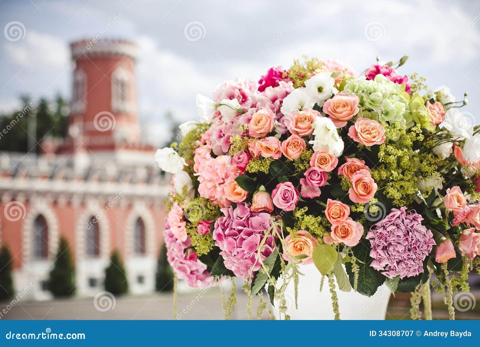 Decoration Of Wedding Flowers Royalty Free Stock Photography Image 34308707