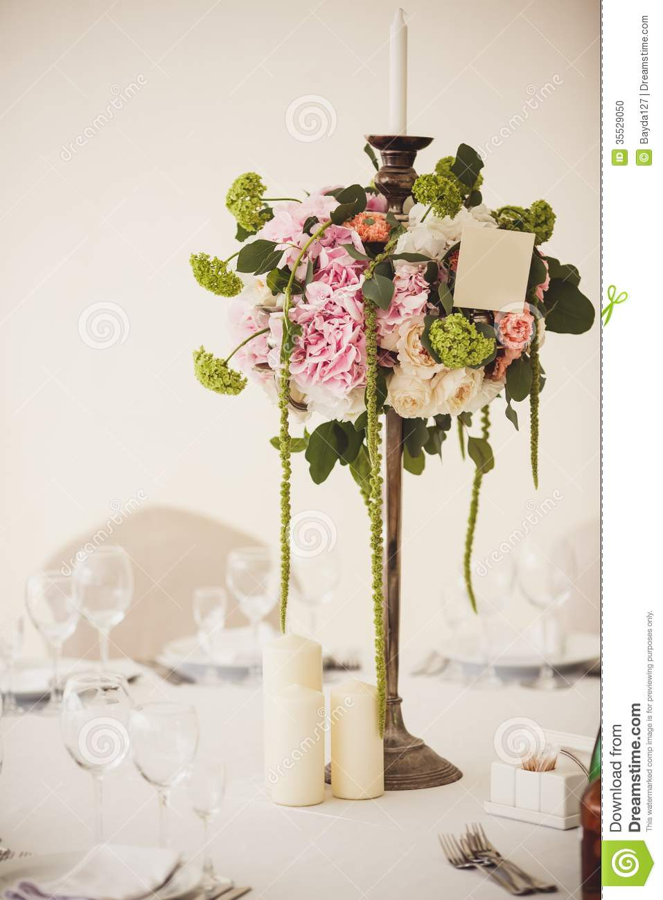 Decoration of wedding flowers stock photo image 35529050 for Wedding interior decoration images
