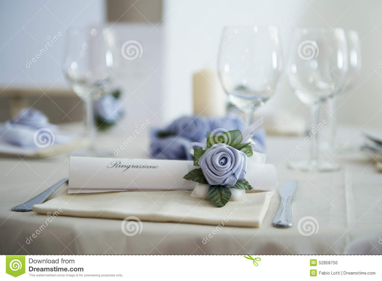 Decoration on a wedding table stock photo image 52858750 - Deco table rose ...