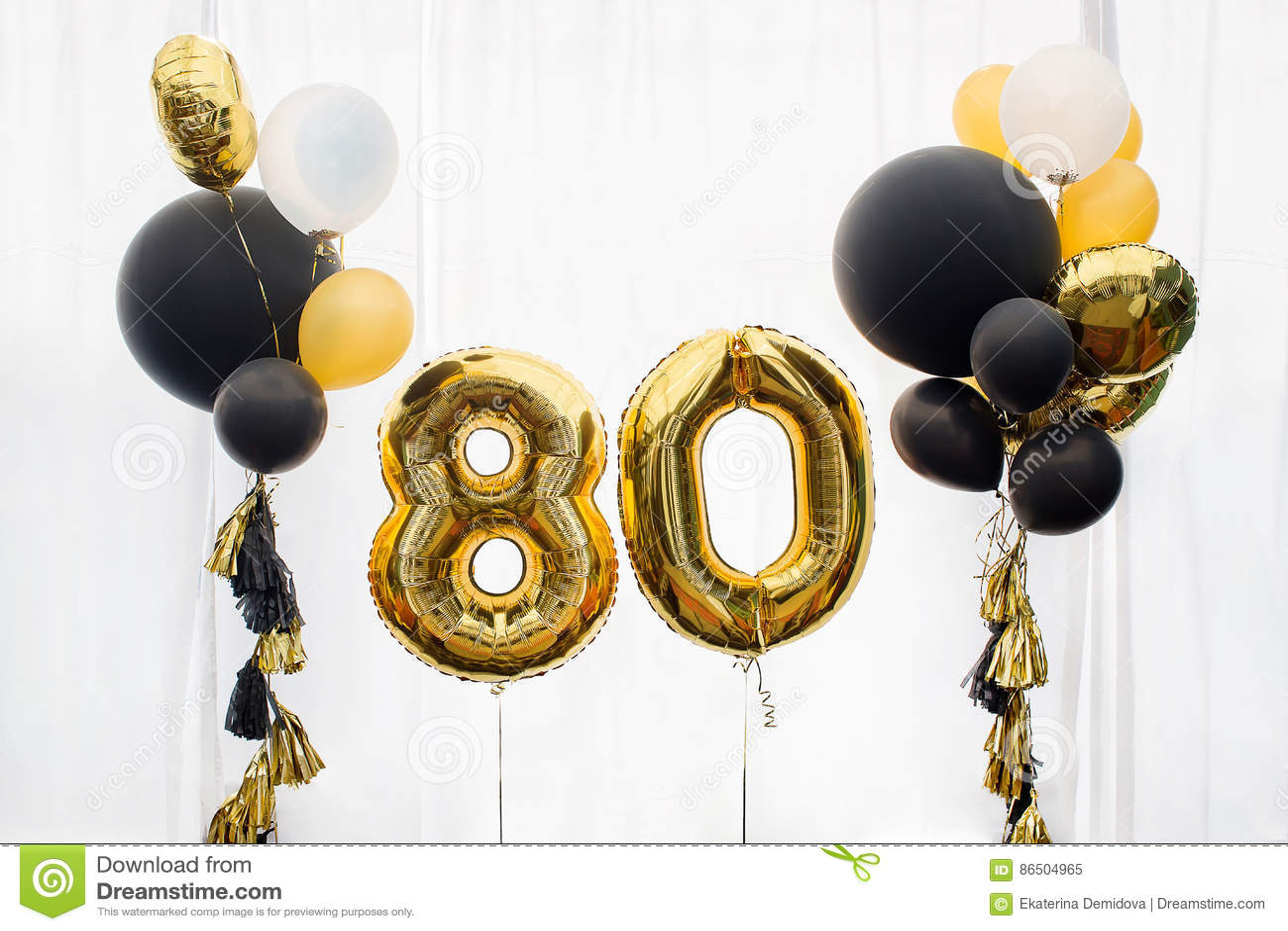 Decoration for 80 years birthday, anniversary