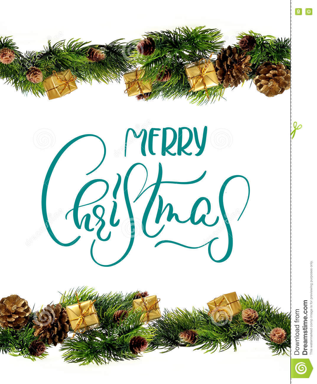 Decorations Border Design With Text Merry Christmas ...