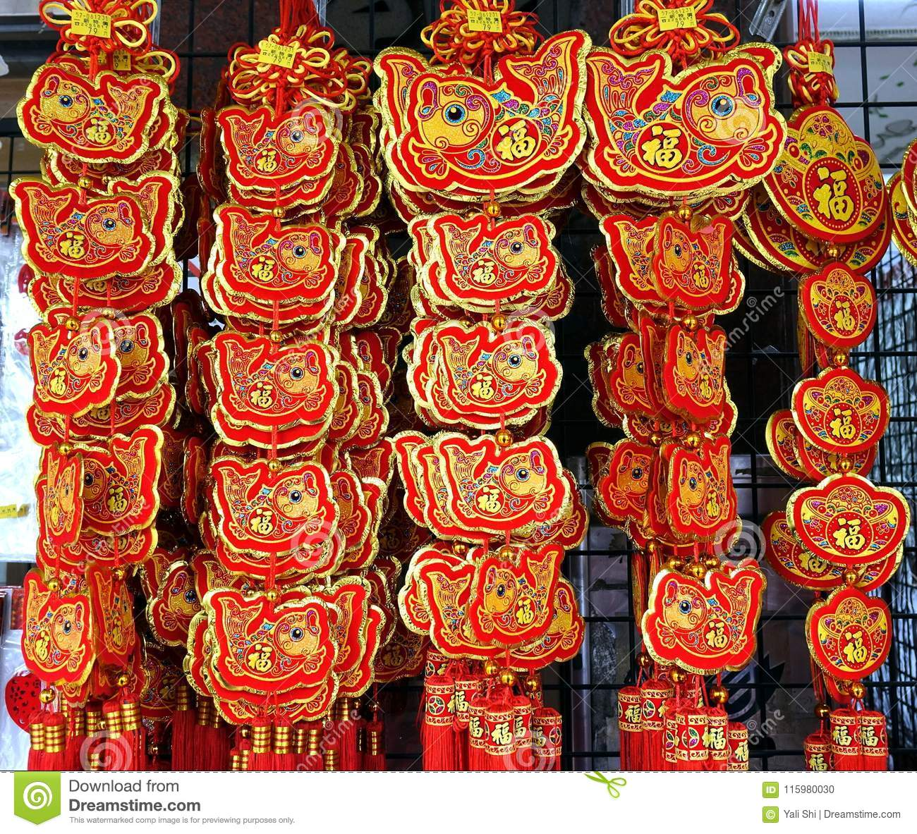 Decorations For The Chinese New Year Editorial Image Image Of Luck