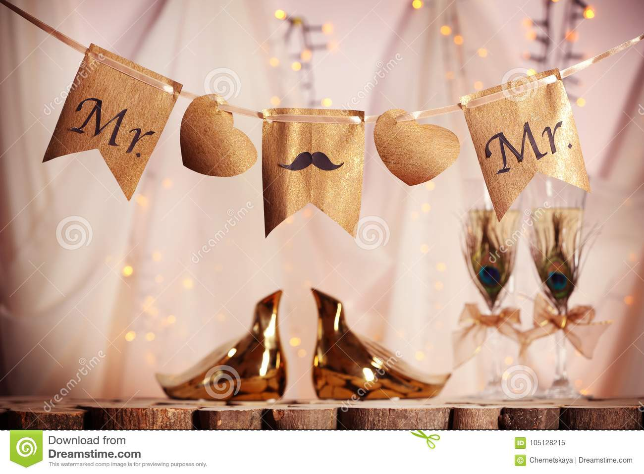 Decorations for gay wedding