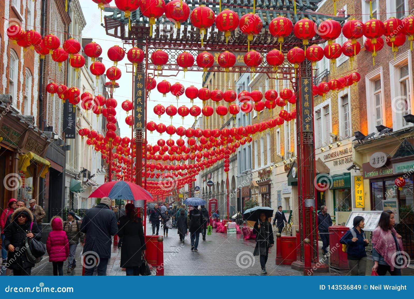 Chinese New Year Lanterns, Soho, London, UK Editorial ...