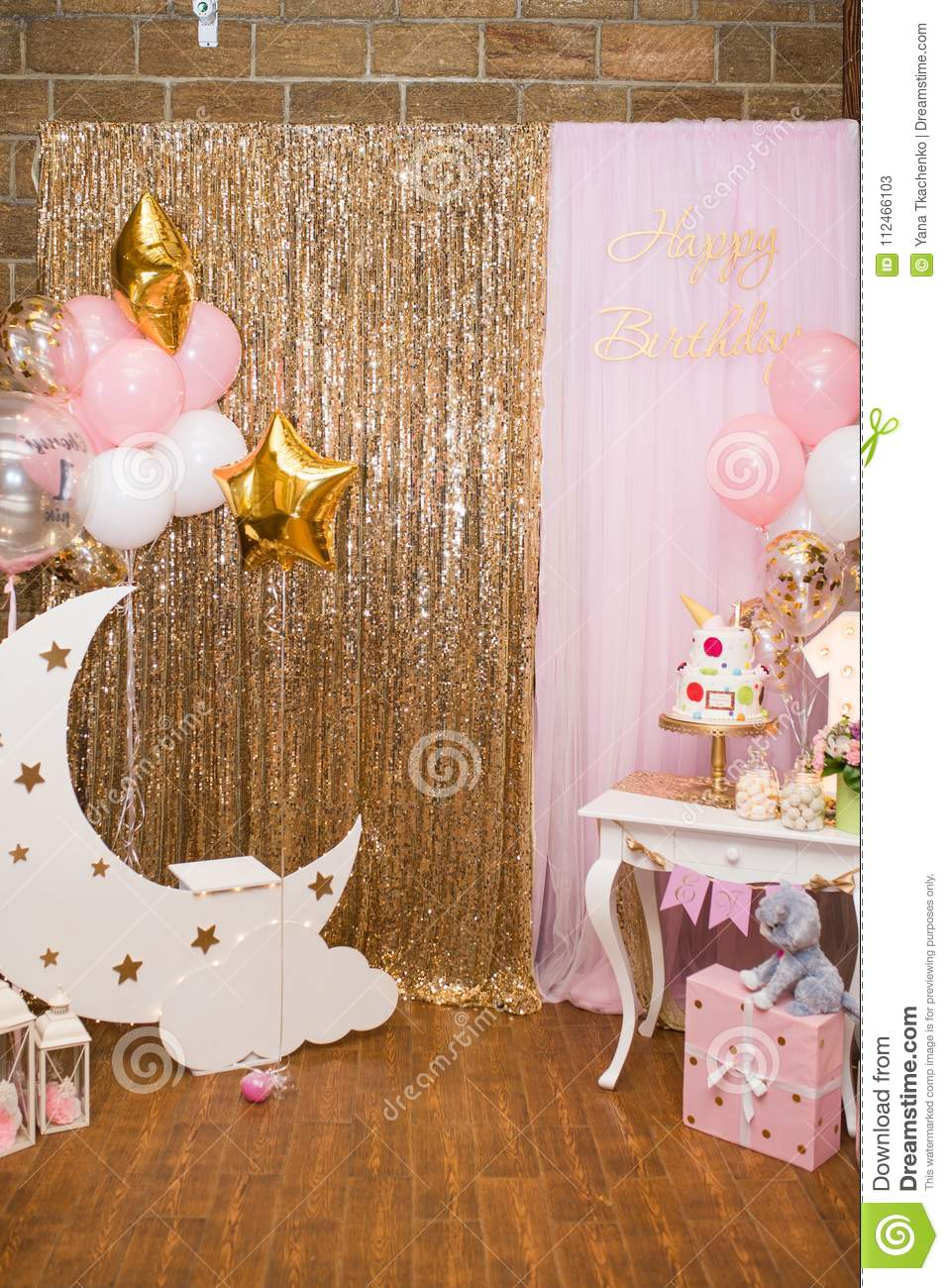 Decorations For A One Year Old Girls Birthday Party Concept Of Childrens