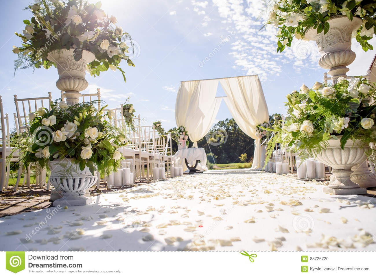 Decorations For The Wedding Ceremony. Flowers Closeup. Stock Photo ...