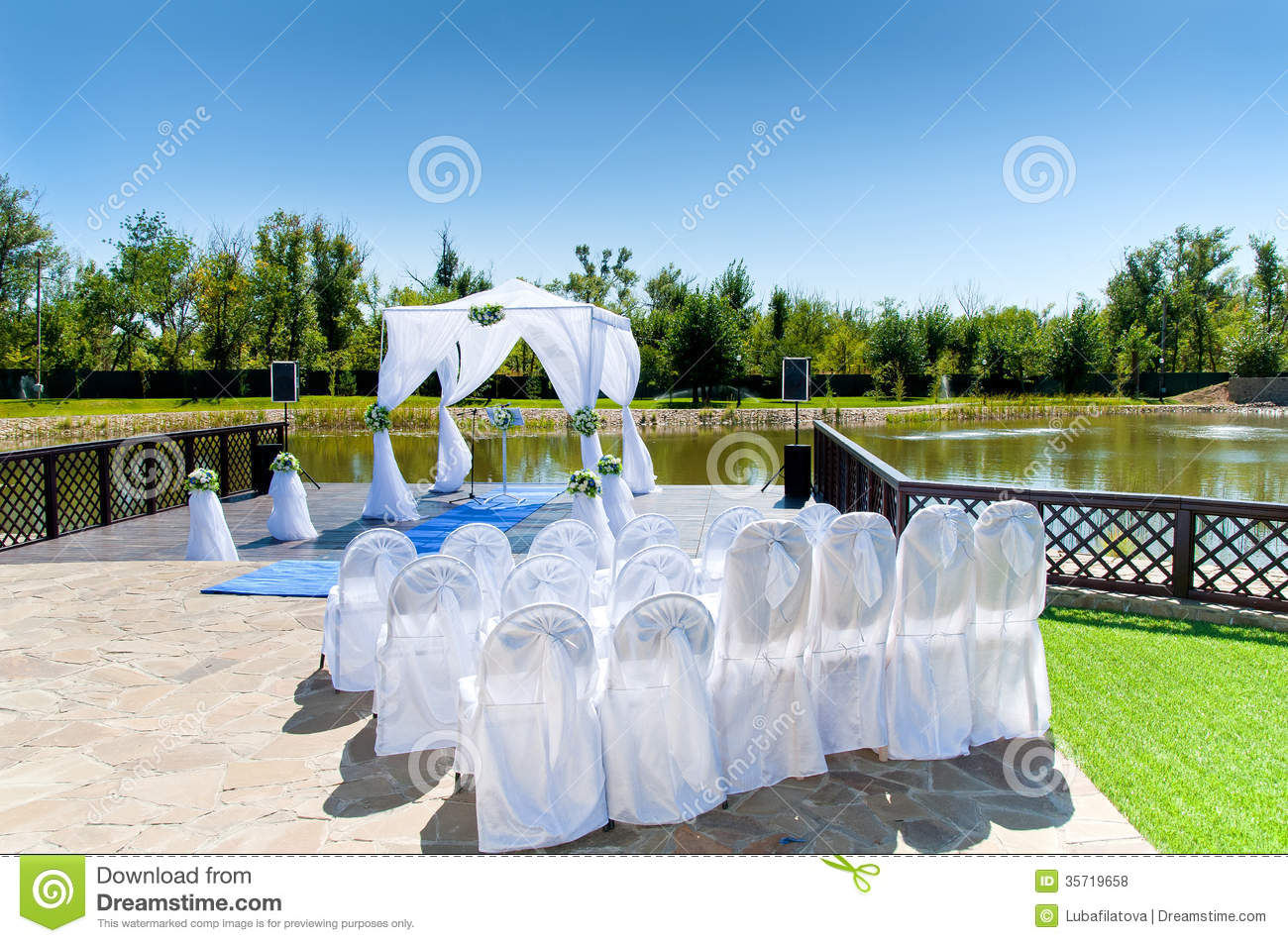 Decorations For The Wedding Royalty Free Stock Photos