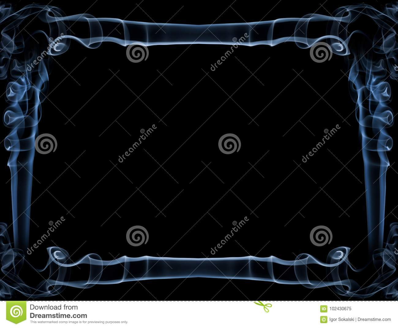 Blue Smoke Frame Stock Image Image Of Abstract Copy