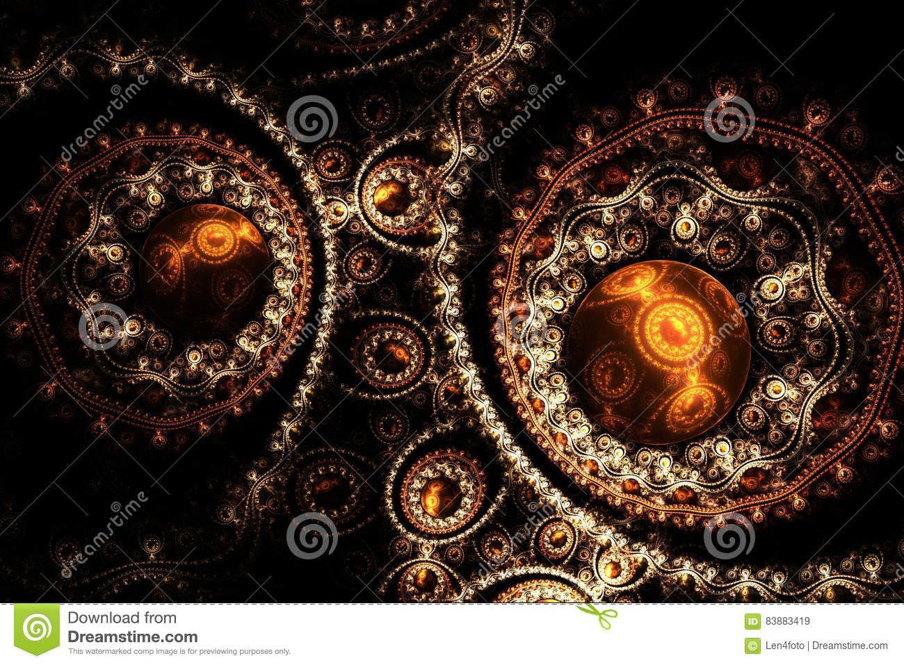 Decorative abstract fantasy fractal round