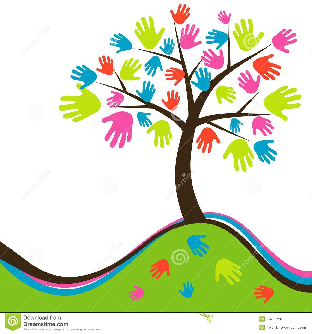 More similar stock images of ` Decorative abstract hand tree, vector `