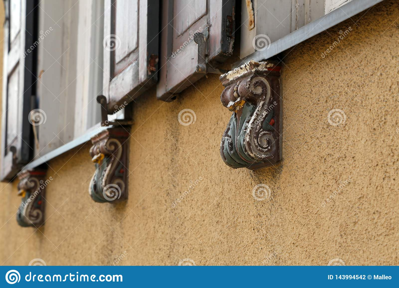 Decorative Architectural Elements Under The Windows For