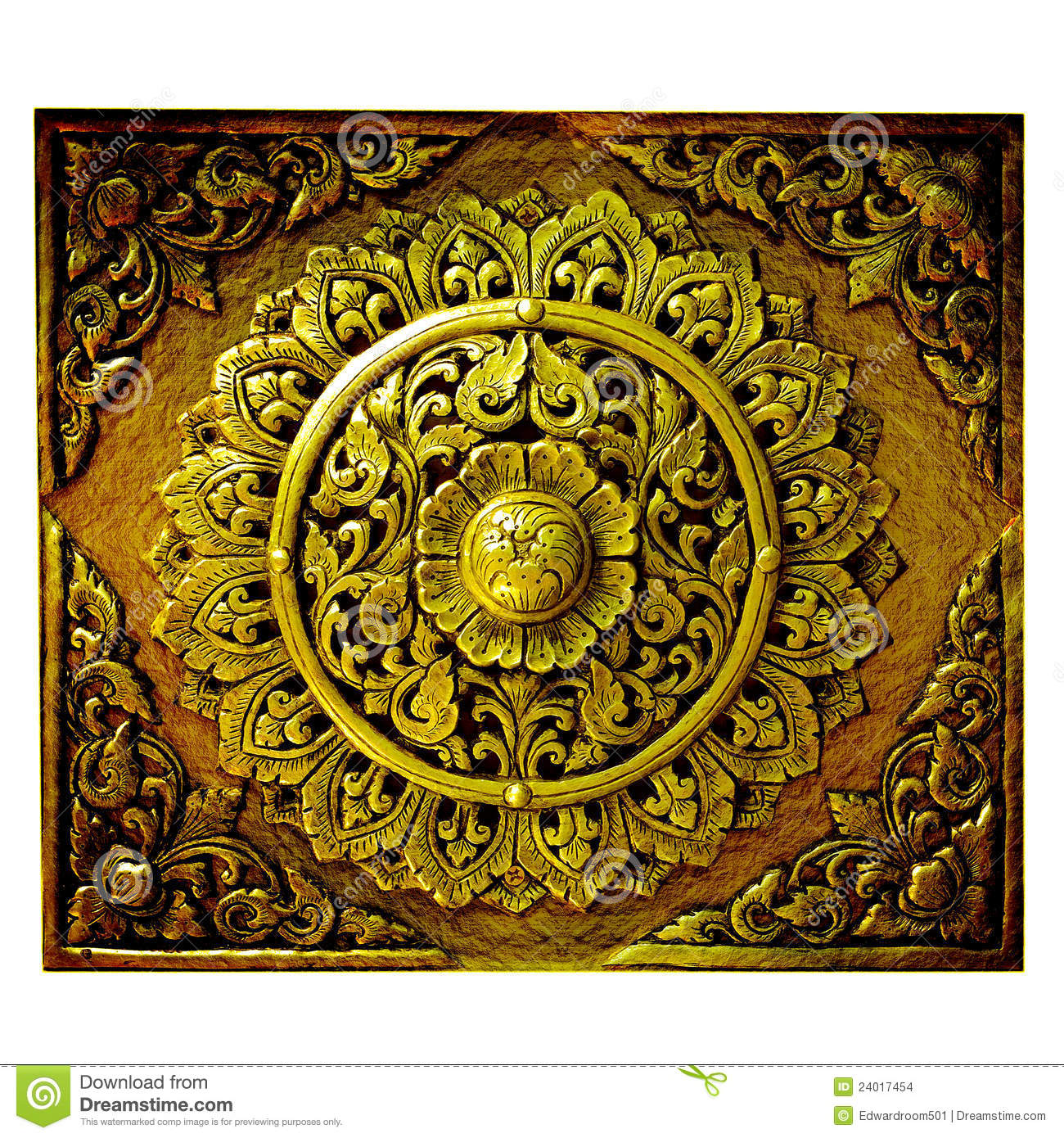 decorative art of lanna thai stock images image 24017454