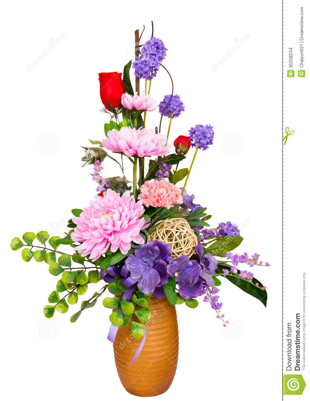 Decorative artificial flowers stock images image 35258244 for Artificial flower for decoration