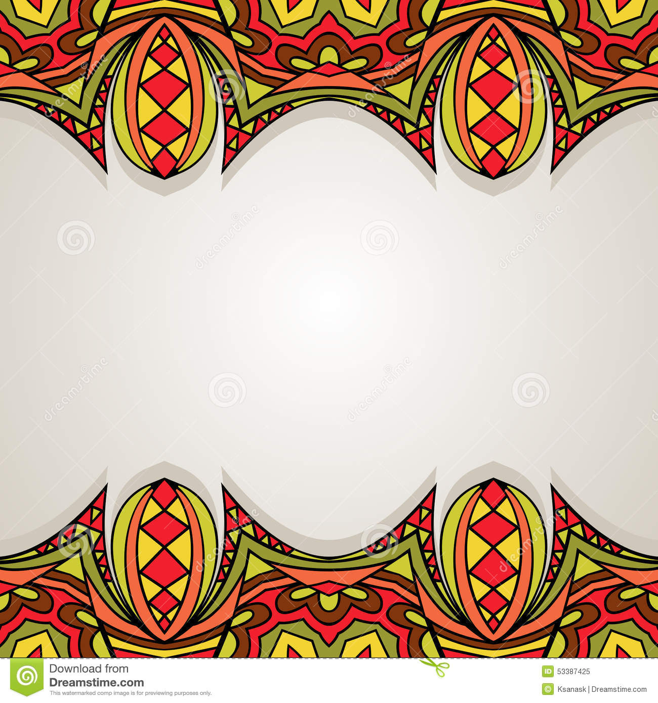 Decorative Background With Bright Border Stock Vector