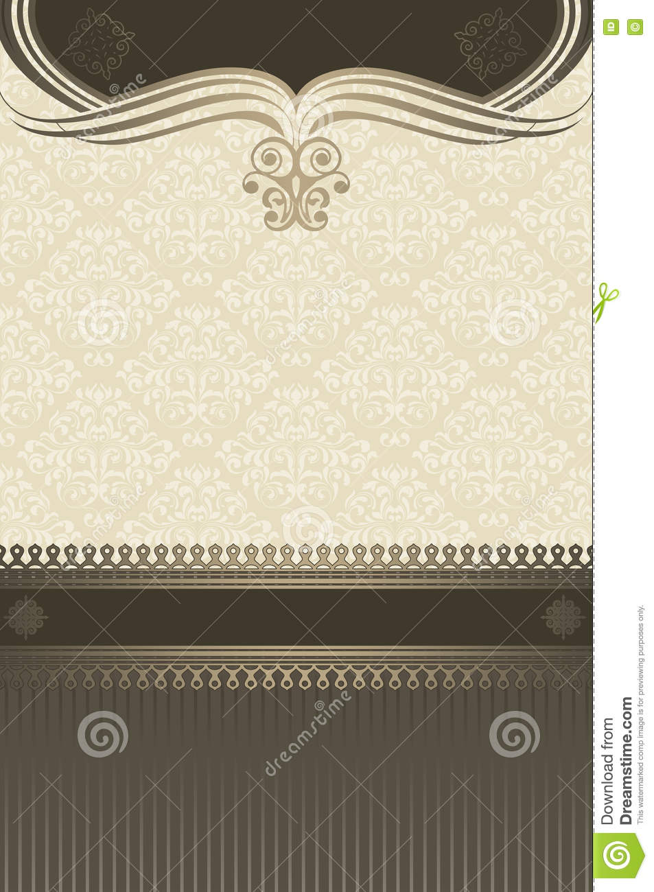 Old Fashioned Book Cover Design ~ Decorative vintage background with elegant border royalty