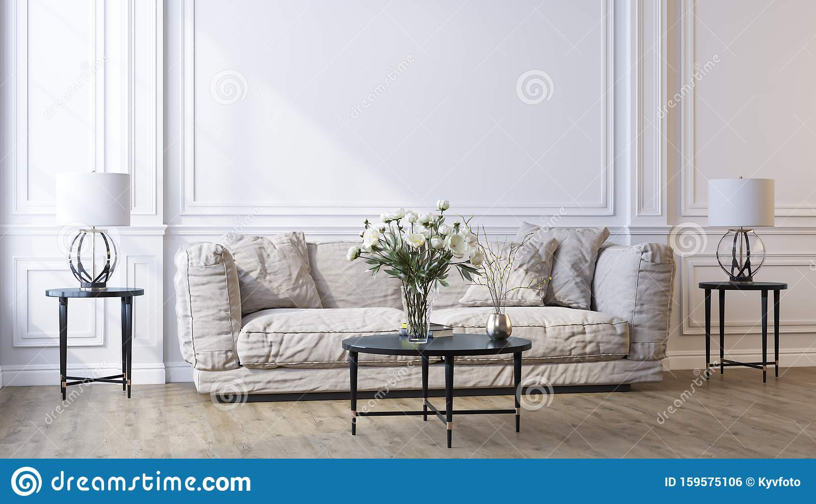 Decorative Background For Home Office And Hotel Modern Interior Design Stock Illustration Illustration Of Interior Neutral 159575106