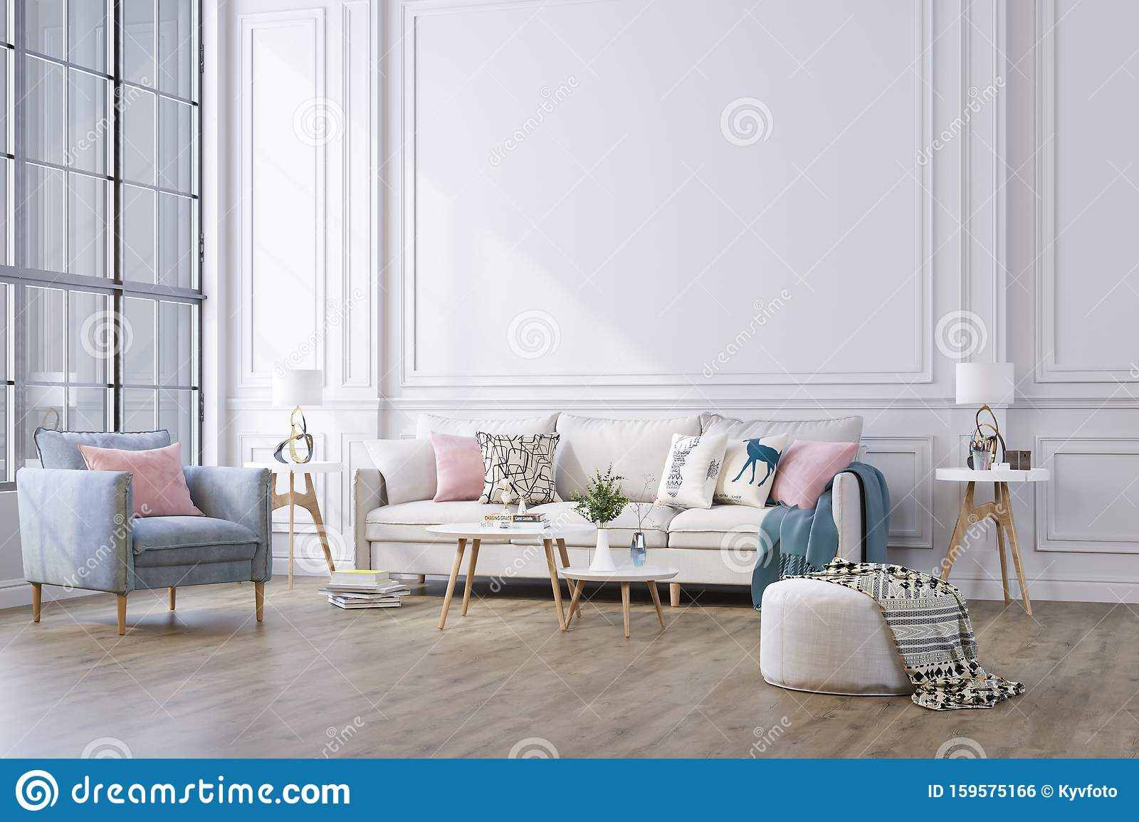 Decorative Background For Home Office And Hotel Modern Interior Design Stock Illustration Illustration Of Lifestyle Luxury 159575166