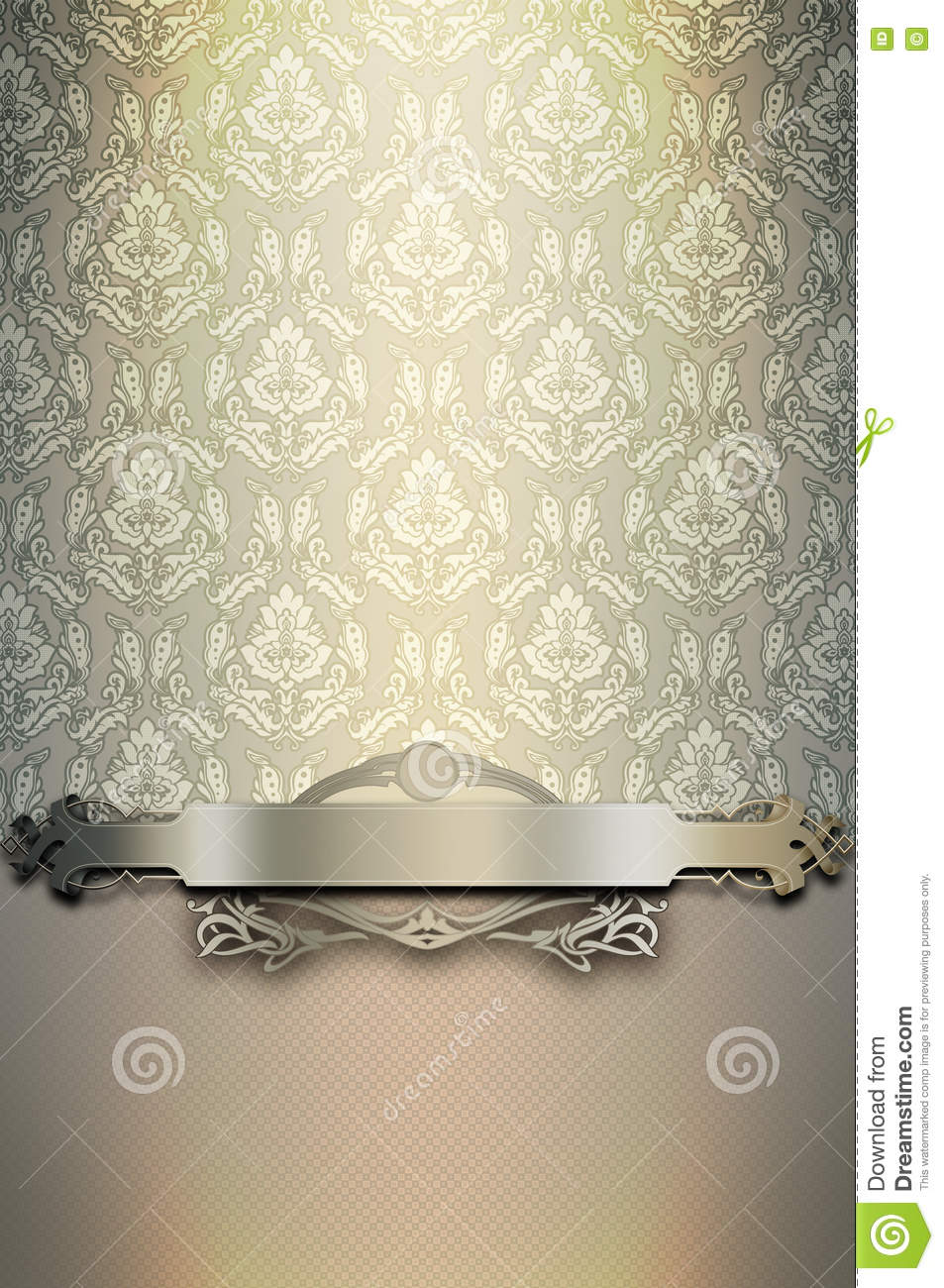 Old Fashioned Book Cover : Decorative background with patterns and elegant border