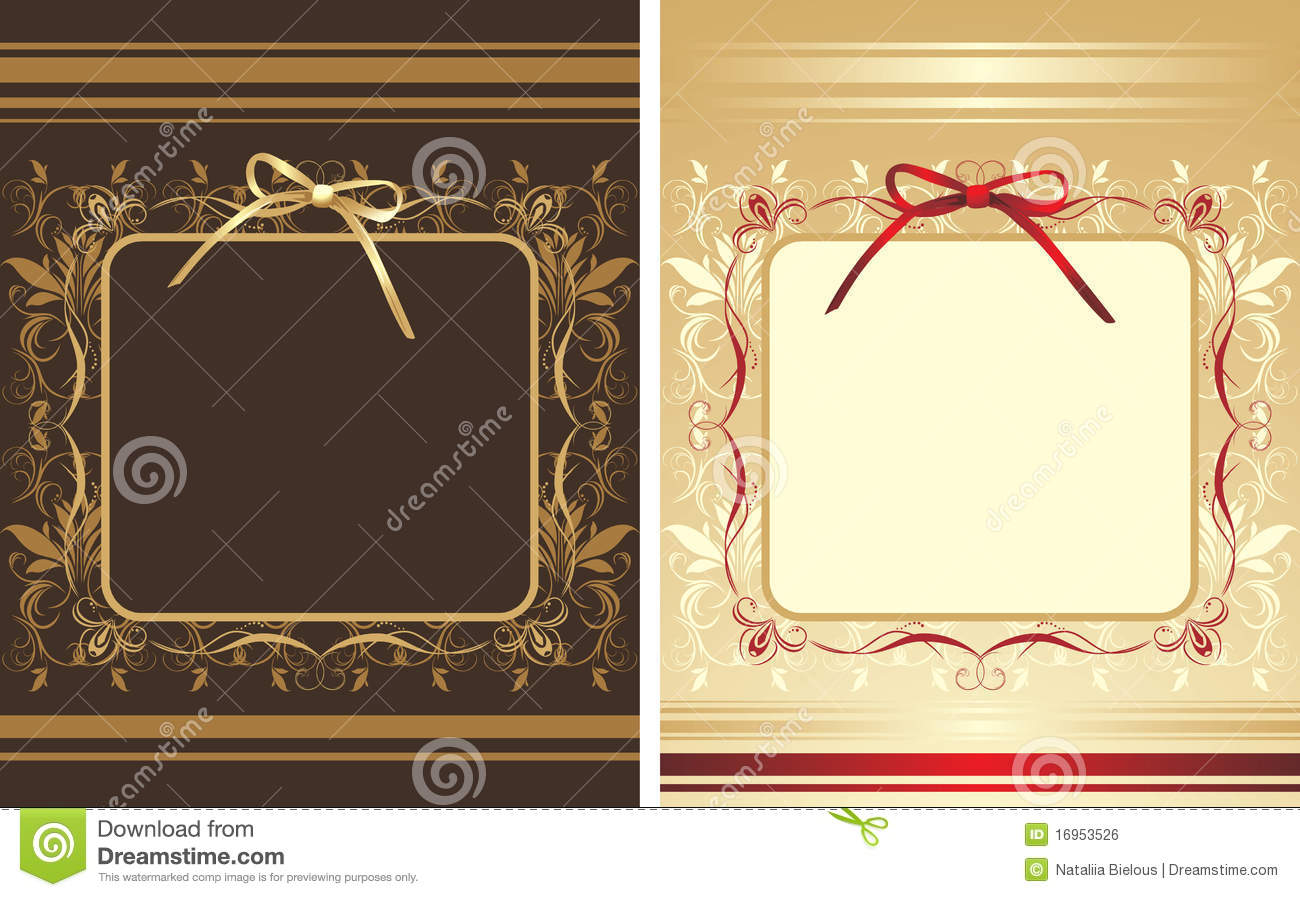 Decorative Backgrounds With Frames And Bows Stock Vector ...