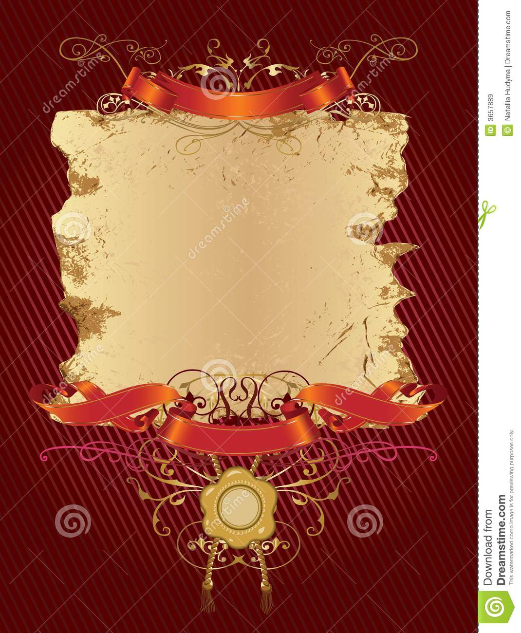 Decorative_banner_in_red_color