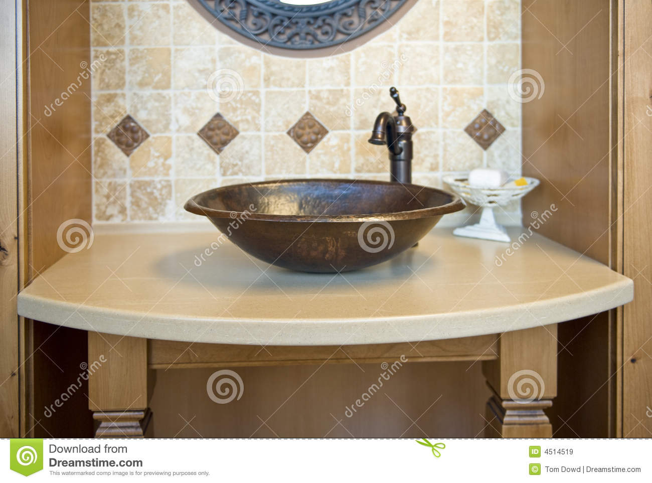 decorated bathroom sinks decorative bathroom sink stock image image of inside 12635