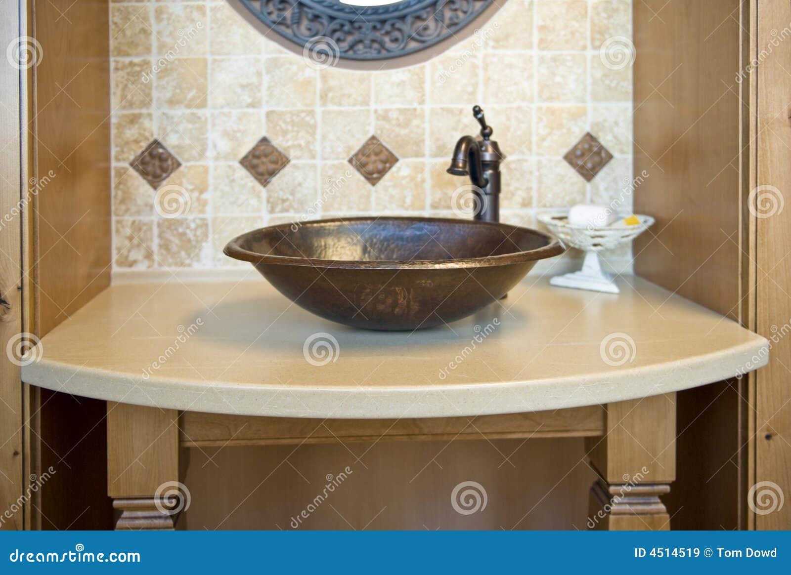 Decorative Bathroom Sink Stock Image Image Of Inside