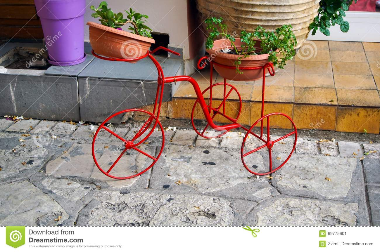 Download Decorative bicycle stock image. Image of bouquet, outdoors - 99775601